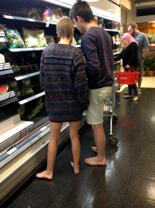 barefoot shoppers by Michelle Lunicke