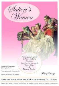Salieri's Women, Genesian Theatre, Michelle Lunicke, Elia Bosshard